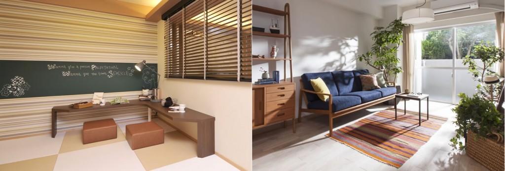 床生活と椅子生活の例