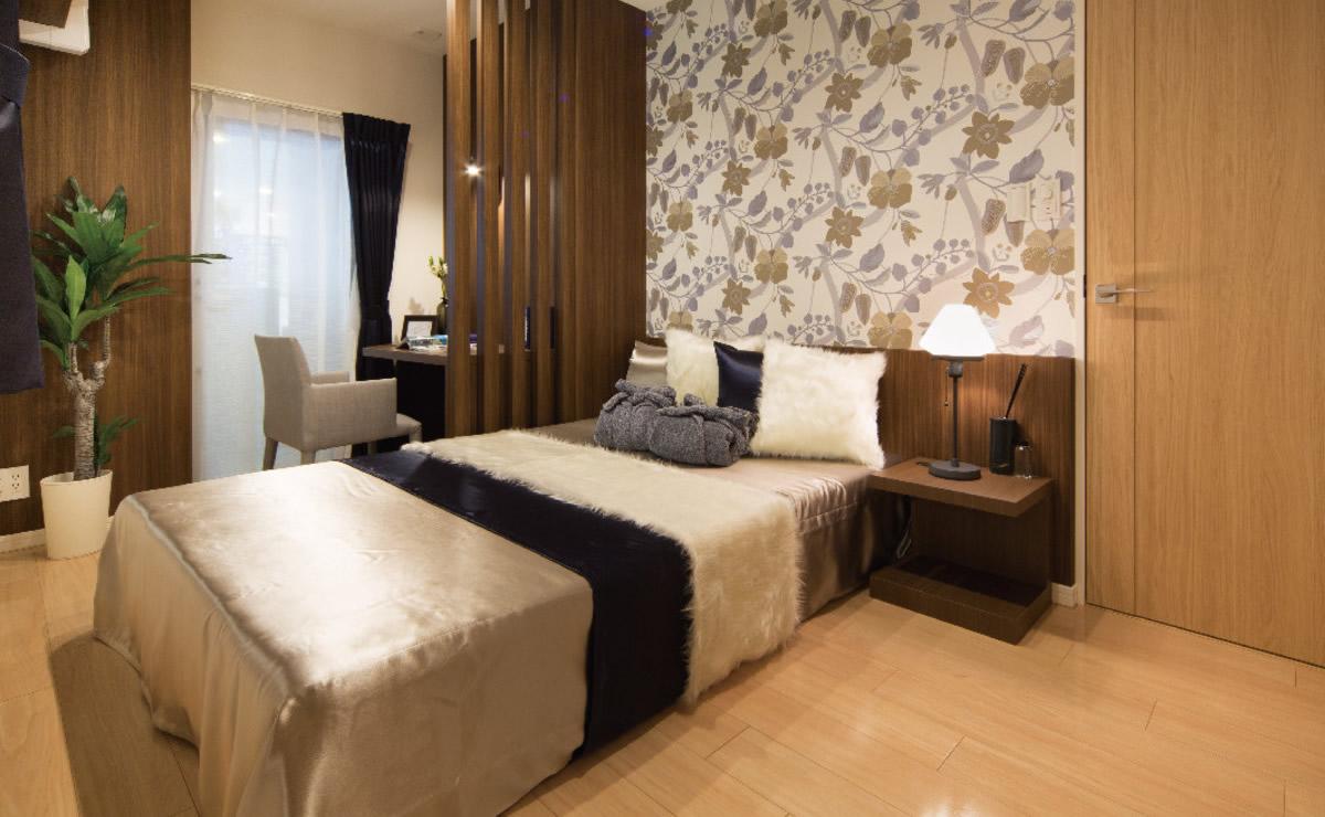 寝室スペースと書斎スペースを分離した個室