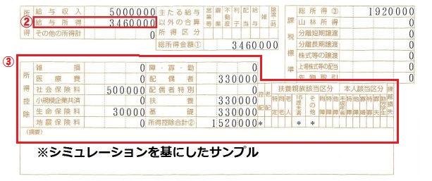 住民税決定通知書サンプル3