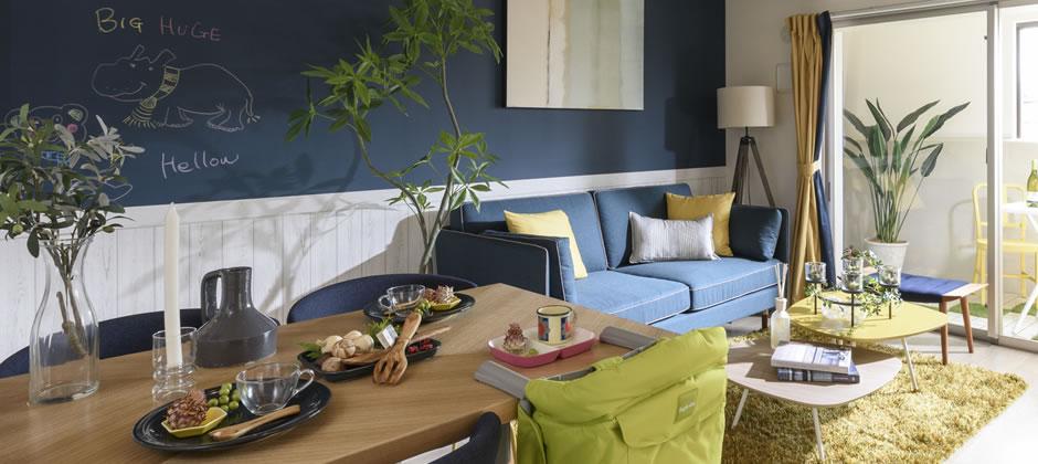 食べる+くつろぐを実現する家具配置