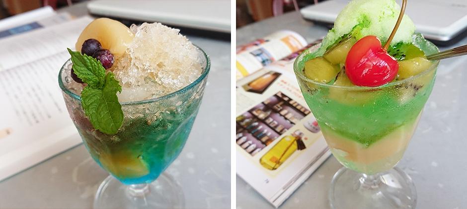 かき氷+フルーツで大人のかき氷パフェ