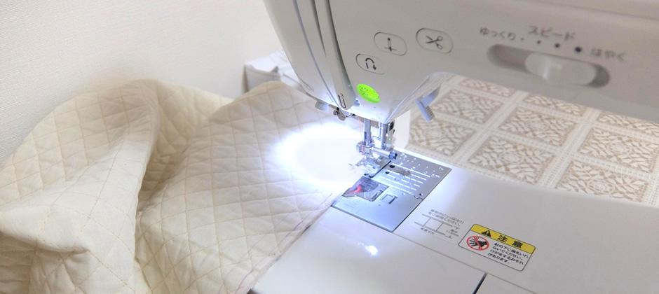 左右をミシンで縫う