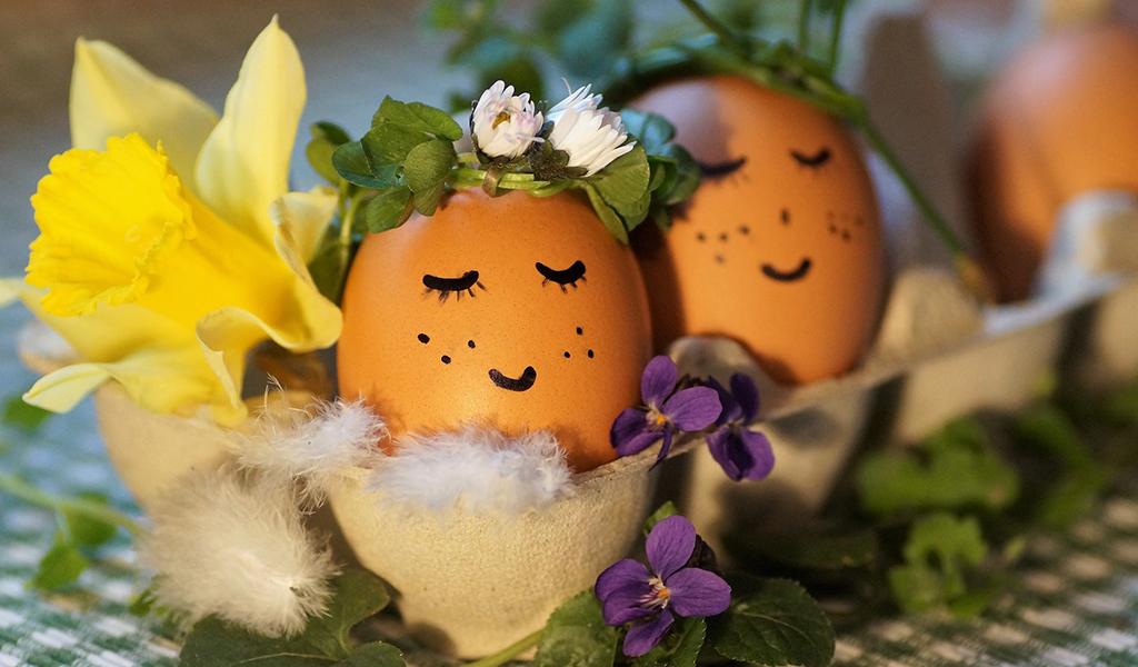 ゆで卵にデコレーション