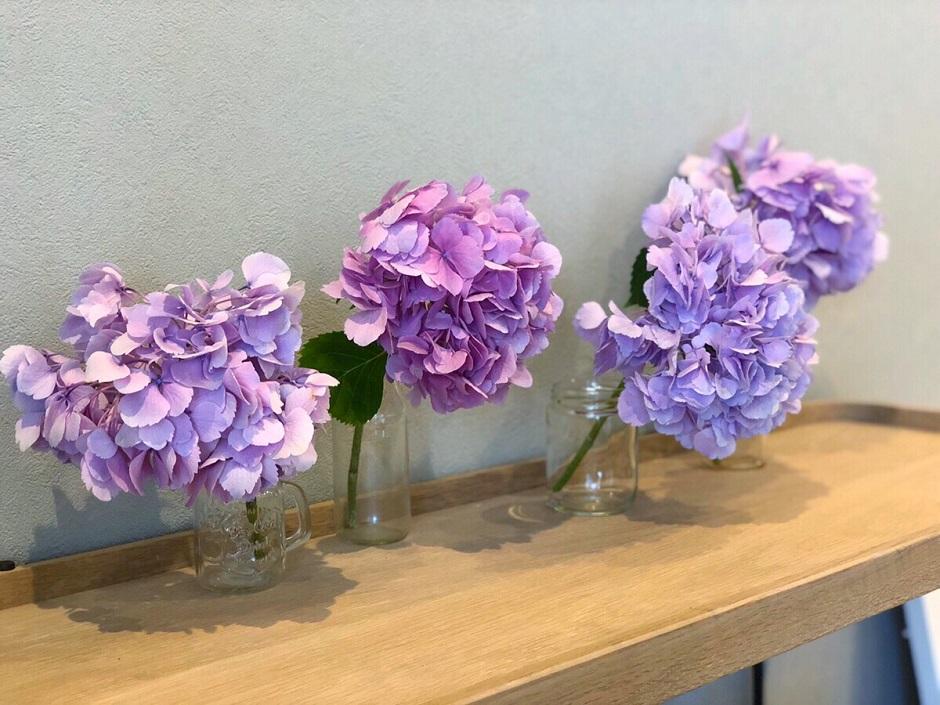 紫陽花アレンジ紫
