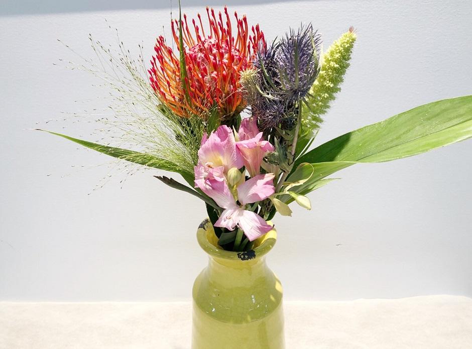 ピンクッションの花束