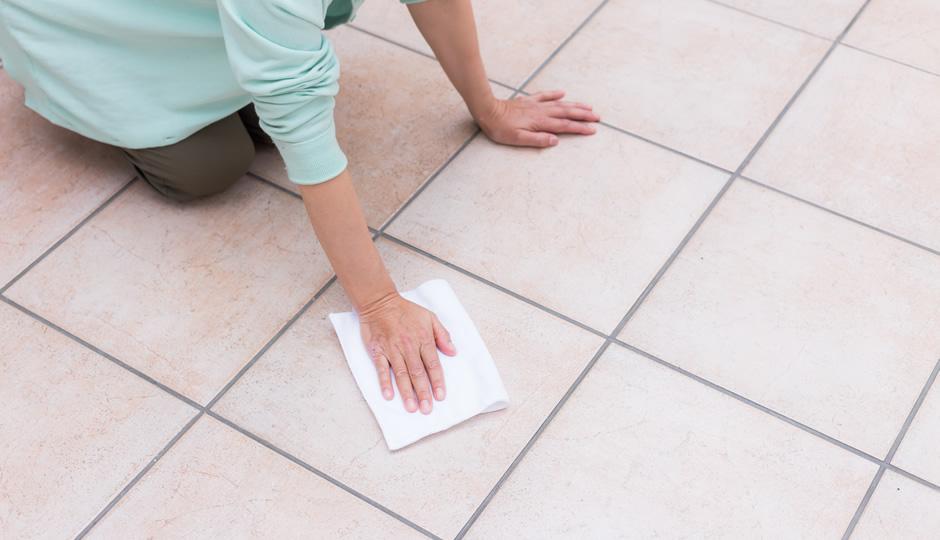 たたきを拭き掃除