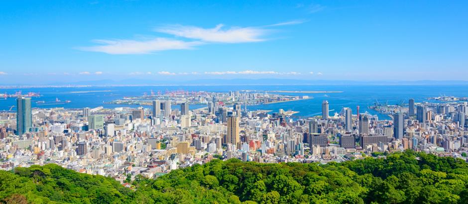 神戸は山側と海側に分かれる
