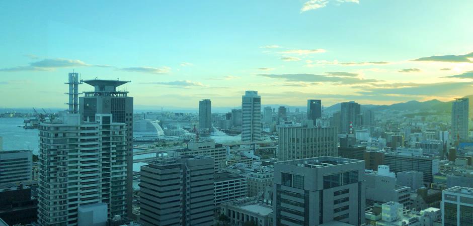 市役所眺望ロビーから東側の眺め