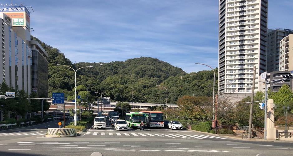 新神戸駅が見えてきました