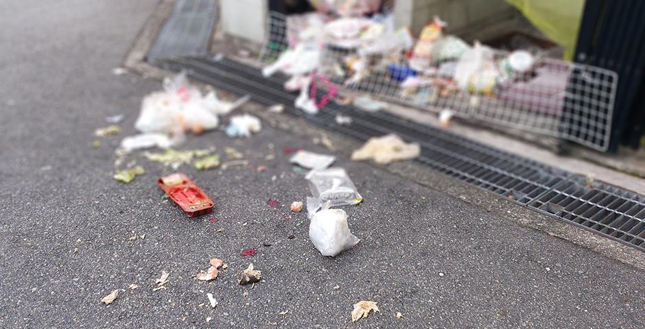ゴミ置き場が汚い