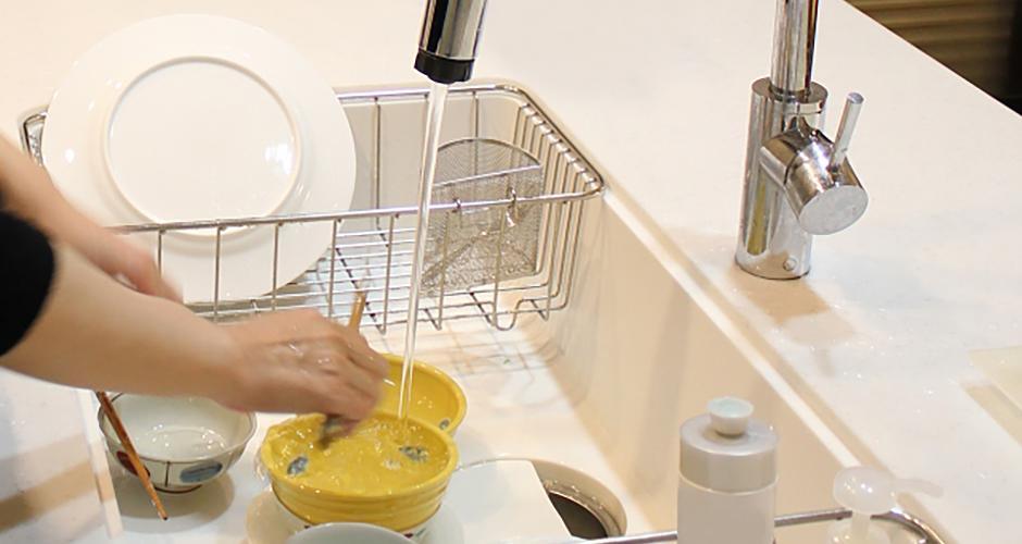 洗い物の温度調整