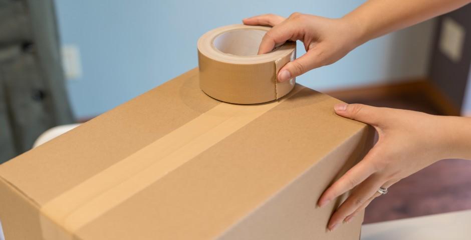段ボール組み立て方とテープの張り方