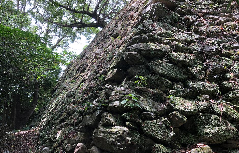 本丸東端の石垣