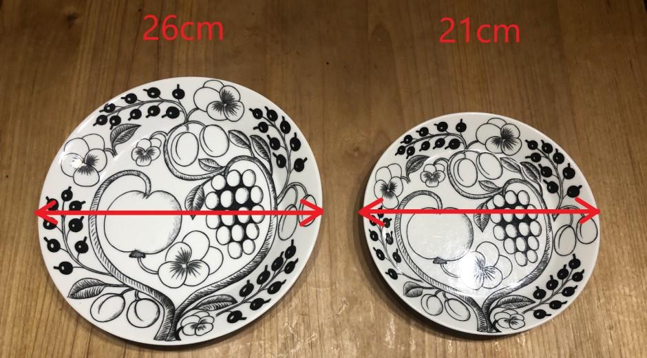 お皿のサイズ