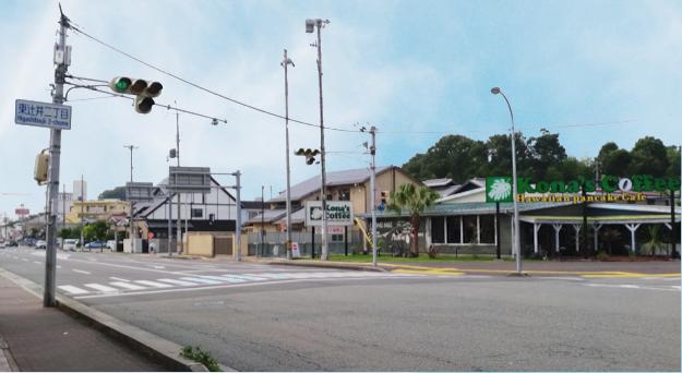 姫路城西側散歩コース1