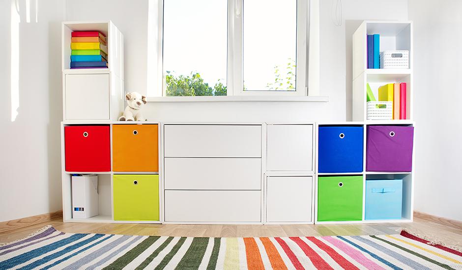 虹色収納棚