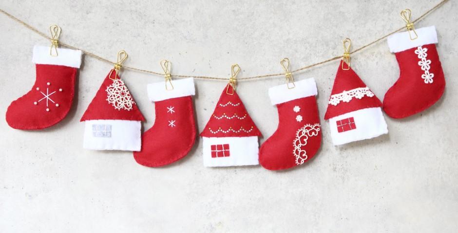 フェルトのクリスマスモチーフ