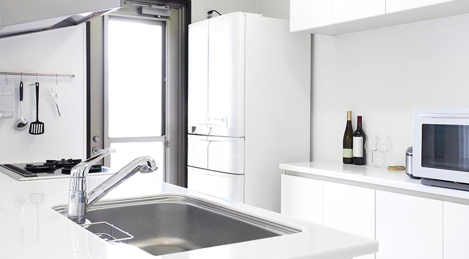 冷蔵庫の位置を決める