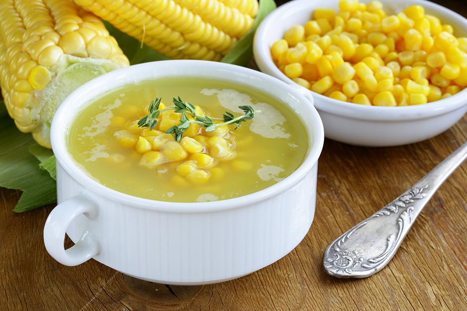 コーンのとろみスープ